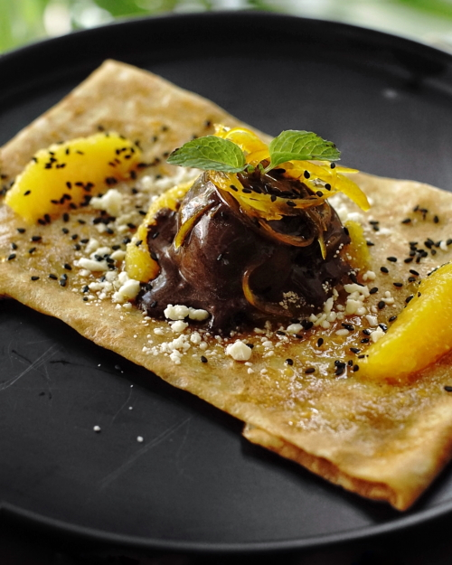 french fold orange confit crepe review